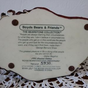 Boyds Bears Accents - Boyds Bear Resin Bearstone 1998 5th Anniversary
